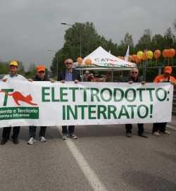 Manifestazione contro Elettrodotto Dolo-Camin