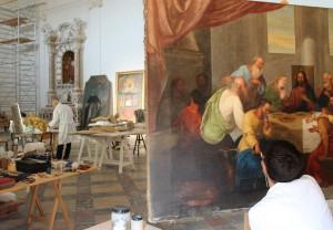 oratorio SantaMaria Grazie_laboratorio_restauro